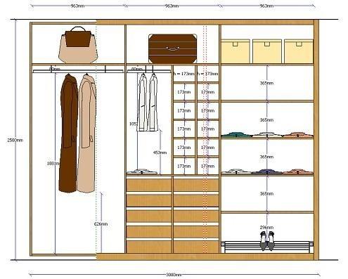 Hb designers for Medidas para closets de madera